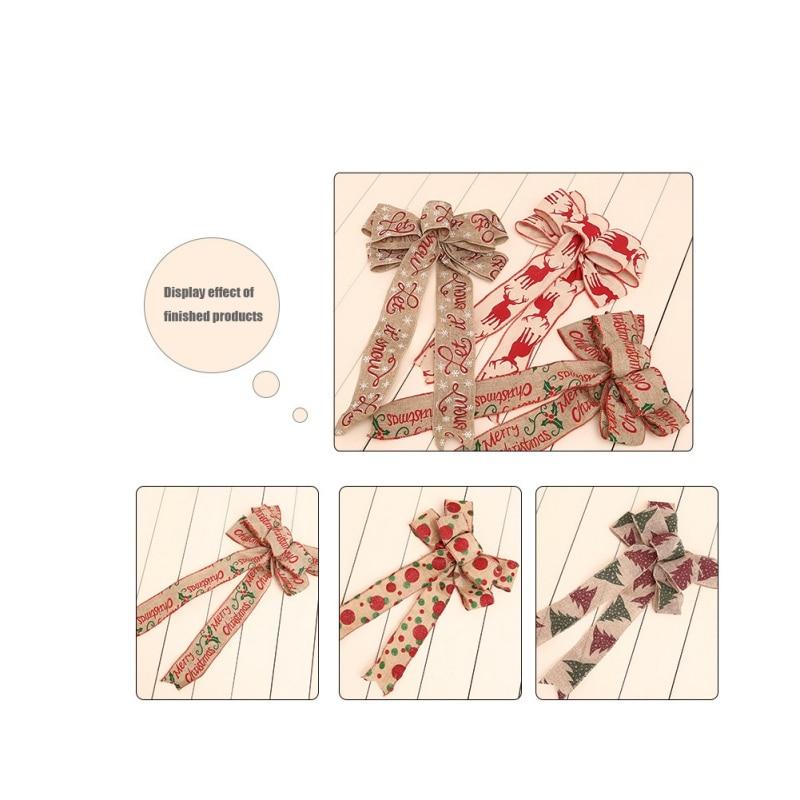 200 см льняная Рождественская Подарочная коробка поставки вечерние лента для украшения ленты с бантом Рождественская елка домашний декор - 2