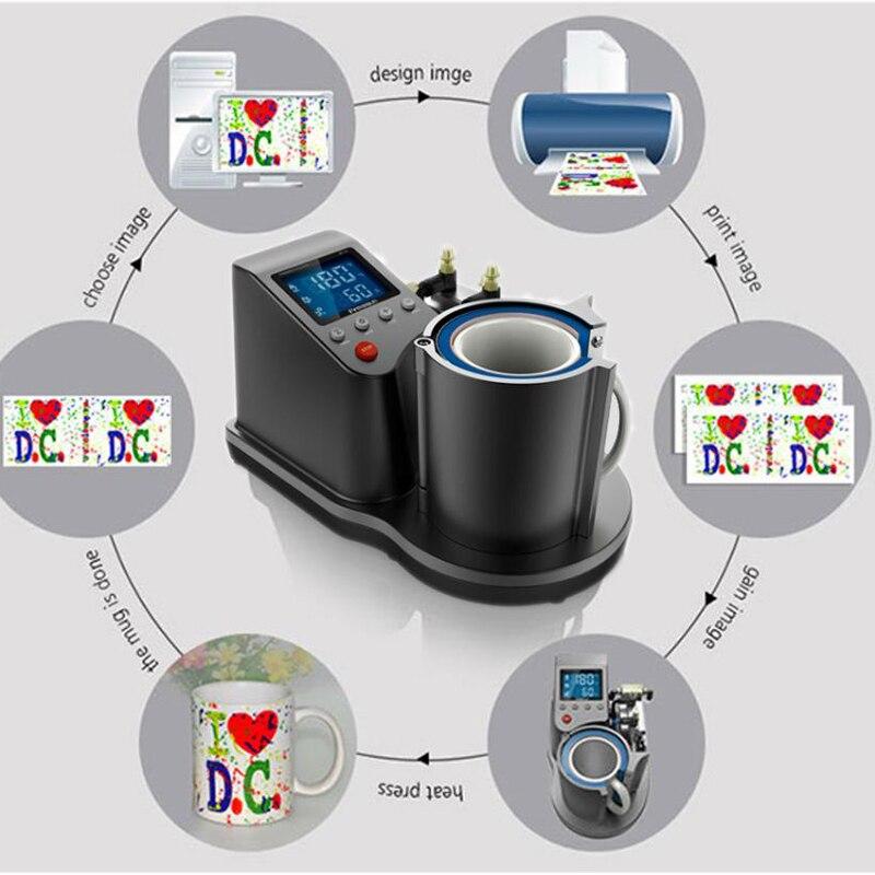 Пневматическая автоматическая термопресс машина для кружек 11 унций, термопереводная кофейная волшебная кружка, печатная сублимационная в... - 3