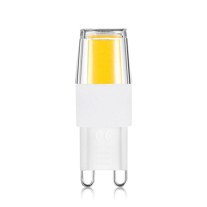 LKLTFX 100 шт. led G9 1508 COB AC 220 В led освещение светодиодные лампы G9 мини светодиодные лампы 110 в холодный - 6