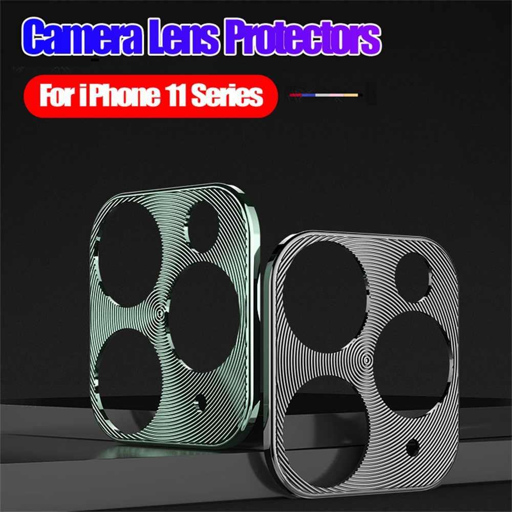 Funda protectora de Metal para lente de cámara, funda protectora con anillo de aleación de aluminio para iPhone 11 / Pro Max