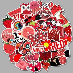 Image 3 - 50 rosso Serie DELLA RAGAZZA Pantaloni A Vita Bassa Carrello Dei Bagagli di Viaggio Del Computer Portatile Del Computer Graffiti Adesivo di Carta Impermeabile Adesivo di Carta