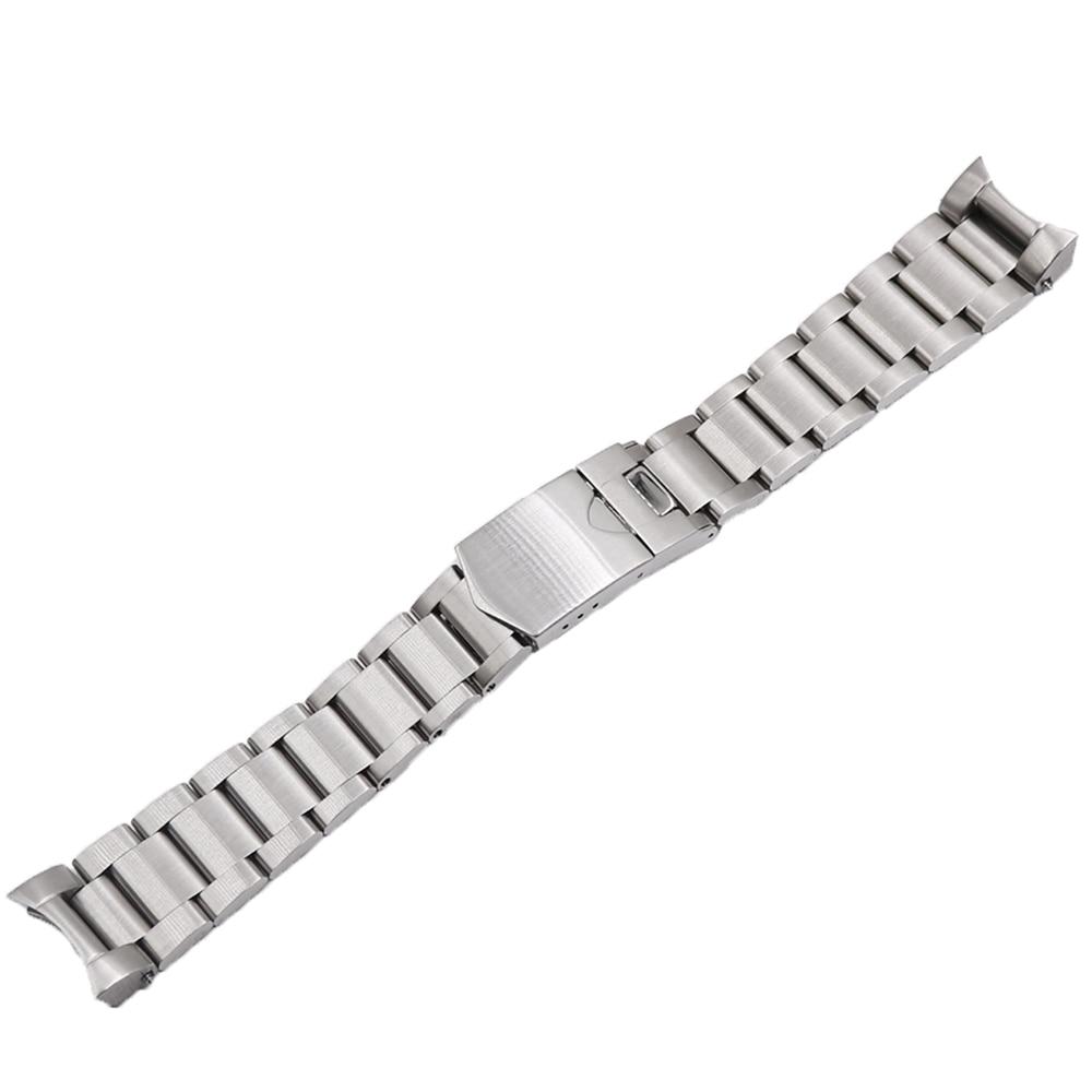 Saatler'ten Saat kayışları'de Rolamy 22mm Yüksek Kaliteli 316L Paslanmaz Çelik gümüş saat Band Sapanlar izle bantları Için Tudor Siyah Defne title=