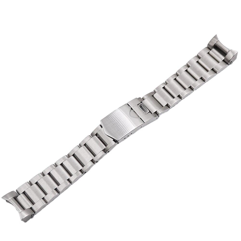 Rolamy 22mm haute qualité en acier inoxydable 316L bracelet de montre en argent bracelets de montre pour Tudor Black Bay