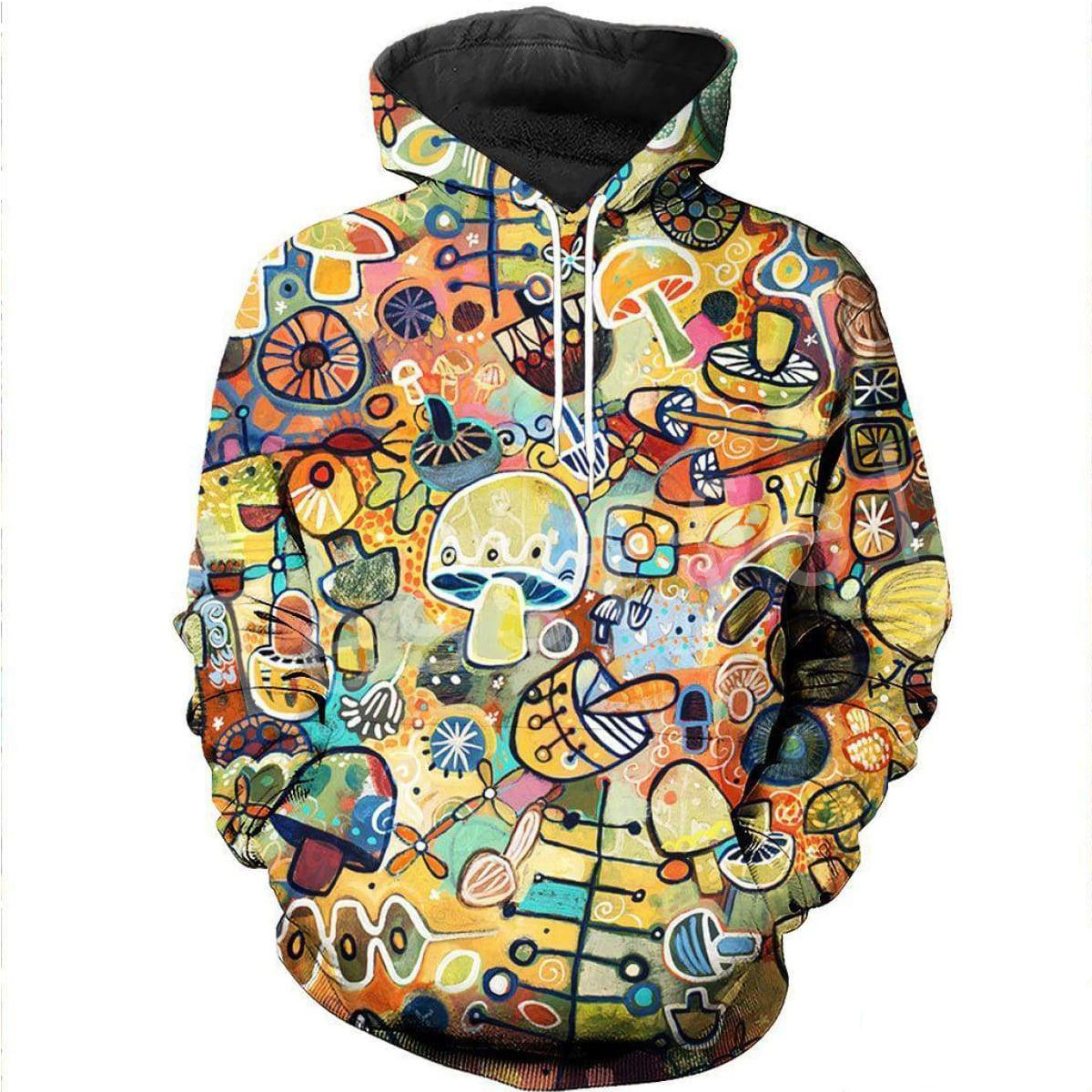 Tessffel Mushroom Colorful Tracksuit Unisex 3DPrint Hoodie/Sweatshirt/Jacket/Mens Womens HIP HOP Cartoon Casual Style-1