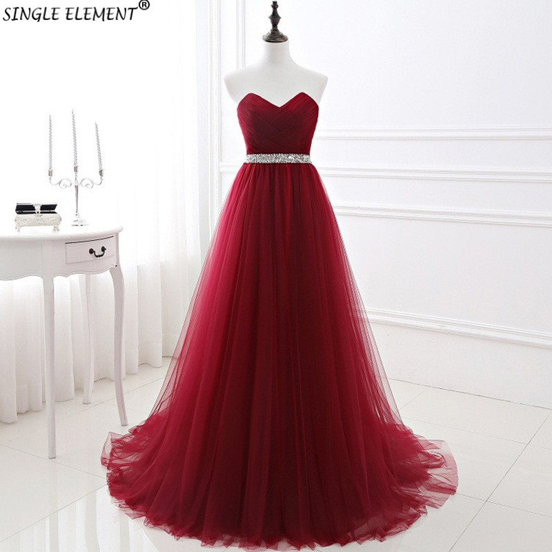 Promotion Beauty High Quality Beads Sash Tulle Long Bridesmaid Dresses For Party Wedding