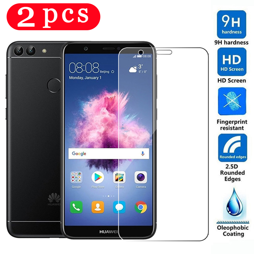 2Pcs Tempered Glass For Huawei P Smart 2018 Plus 2019 Phone Screen Protector Protective Film P Smart Z On The Glass Smartphone