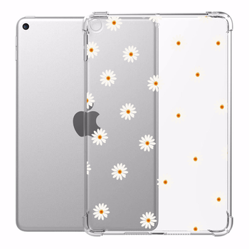 Case for iPad 10.2 10.5 in iPad Air 3 Daisy Set Cases Transparent Silicone Reinforced Corners Soft Cover for iPad Mini 1 2 3 4 5