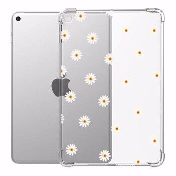 IPad 10.2 için 10.5 iPad hava 3 papatya seti durumlarda şeffaf silikon takviyeli köşeler yumuşak kapak için iPad mini 1 2 3 4 5