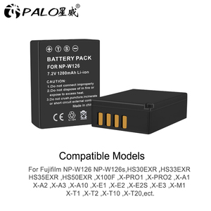 Image 2 - PALO LCD NPW126 USB Digital charger+2pc NP W126 NP W126s camera battery for Fujifilm Fuji X100F XPRO1 X A1 HS50EXR XT1 X T2 X E1