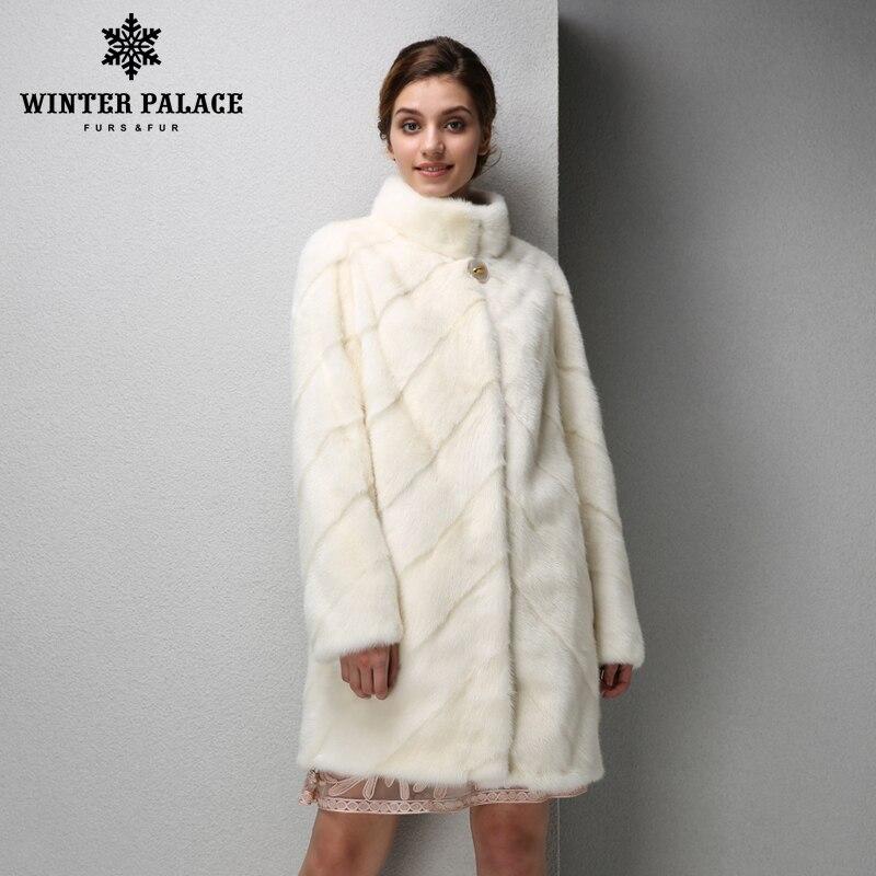 2019 mode femmes vison manteau court en cuir vison manteau de fourrure noir manteau de fourrure mince réel manteau de fourrure hiver PALACE