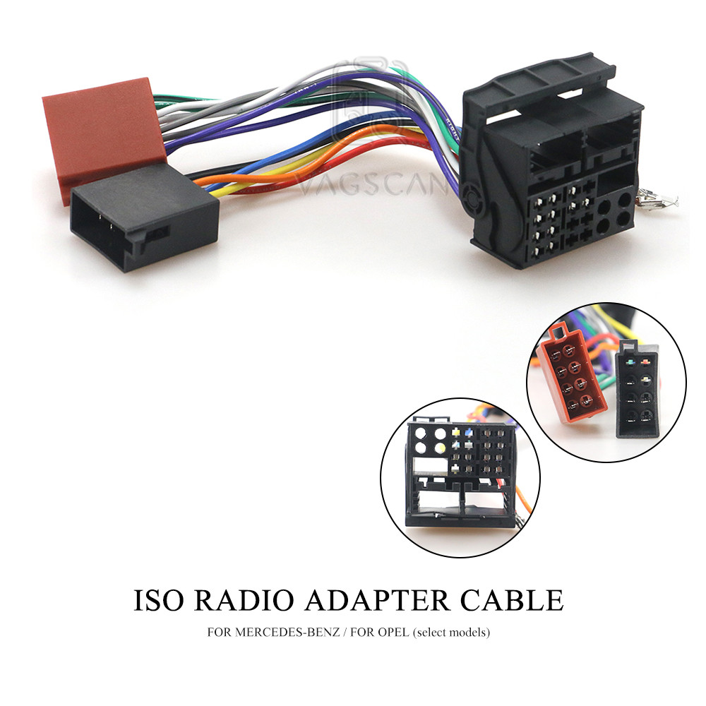 12-124 ISO Car Radio Adapter for MERCEDES-BENZ for OPEL (select models) Wiring Harness Connector Lead Loom Cable Plug(China)