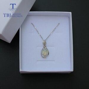 Image 5 - Opal mały wisiorek naturalny kamień etiopii w 925 sterling silver prosta konstrukcja biżuterii ładny prezent na boże narodzenie dla dziewczyny, mama