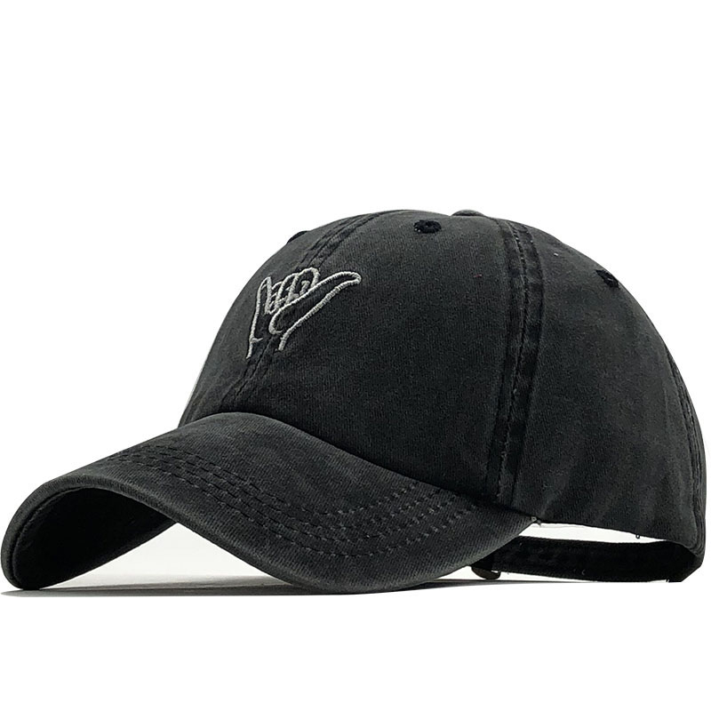 Simple Embroidery Cap Outdoor Leisure Washed Baseball Caps Adjustable Hip Hop Hat 100%Cotton Women Man Hats