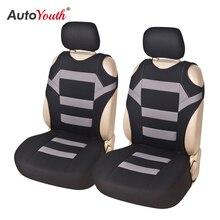 Couvre siège pour véhicule, 2 pièces, universel, couvre siège pour véhicule, couvre siège, en tissu Polyester