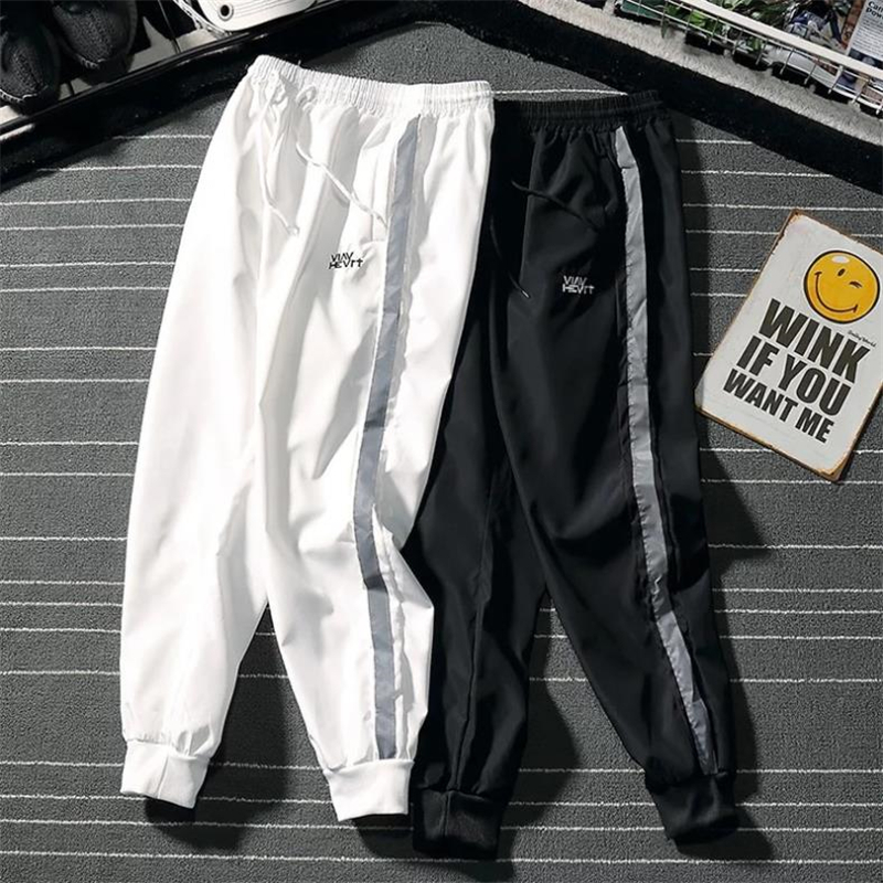 Harem Pants Men Tide Brand Beam Foot Light Transparent Quick Drying Hip Hop Trousers Sweatpants Casual Pants Male Pants