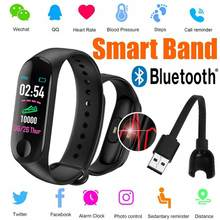 Fitness Smart Band Bluetooth Blood Pressure Heart Rate Monitor Health Sport Digital Watches for Men Women Wearable Wristband(China)
