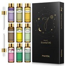 10ml puro aceites esenciales naturales 9 Uds regalo Kit Difusor Aroma aceite de Rosa jazmín lavanda de eucalipto de vainilla de Ylang