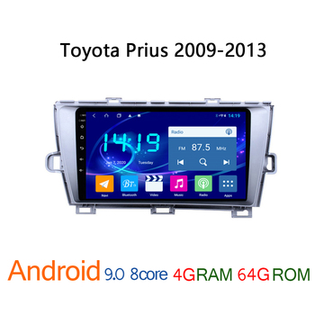 4G+64G car multimedia player for Toyota Prius 2009 2013 android GPS navigator vehicle player coche audio auto stereo autoradio image