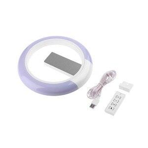 Image 5 - 3D светодиодный настенные часы цифровые настольные часы будильник Зеркало полые настенные часы современный дизайн ночник для дома гостиной украшения