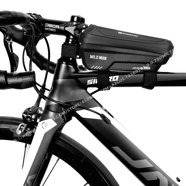 сумка на велосипед wild man водонепроницаемая сумка для телефона фотография
