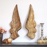 European Retro Angel's Wings Wall Decoration Resin Craft Wings Wall Hanging Sofa Mural Ornaments Bedroom Art Decor Props R2794