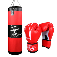 Hot 100cm Oxford boxing sandbag PU leather boxing gloves sand punching bag Grapp