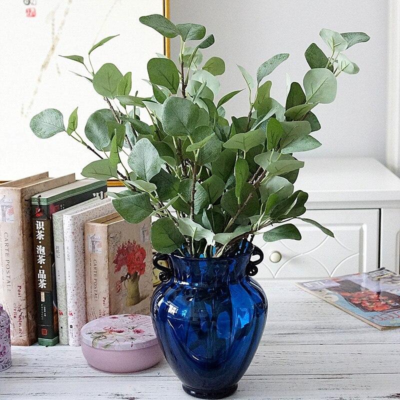 Single Branch Eucalyptus Money Leaf Artificial Plants Decorative Flowers Vases For Wedding Home Decor Fake Leaves Floristics