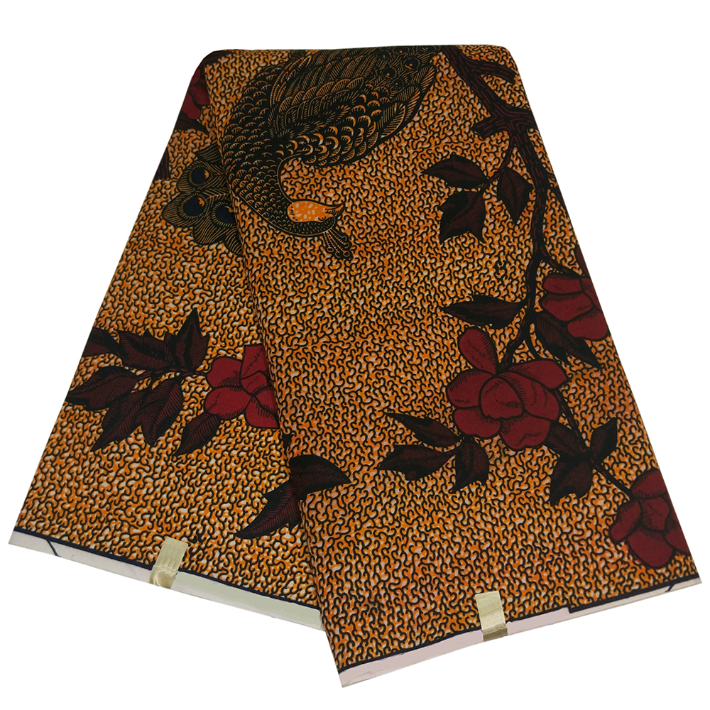 Diy-Fabric Peacock-Pattern Pagne African Printed for Party High-Quality Guaranteed Noble title=