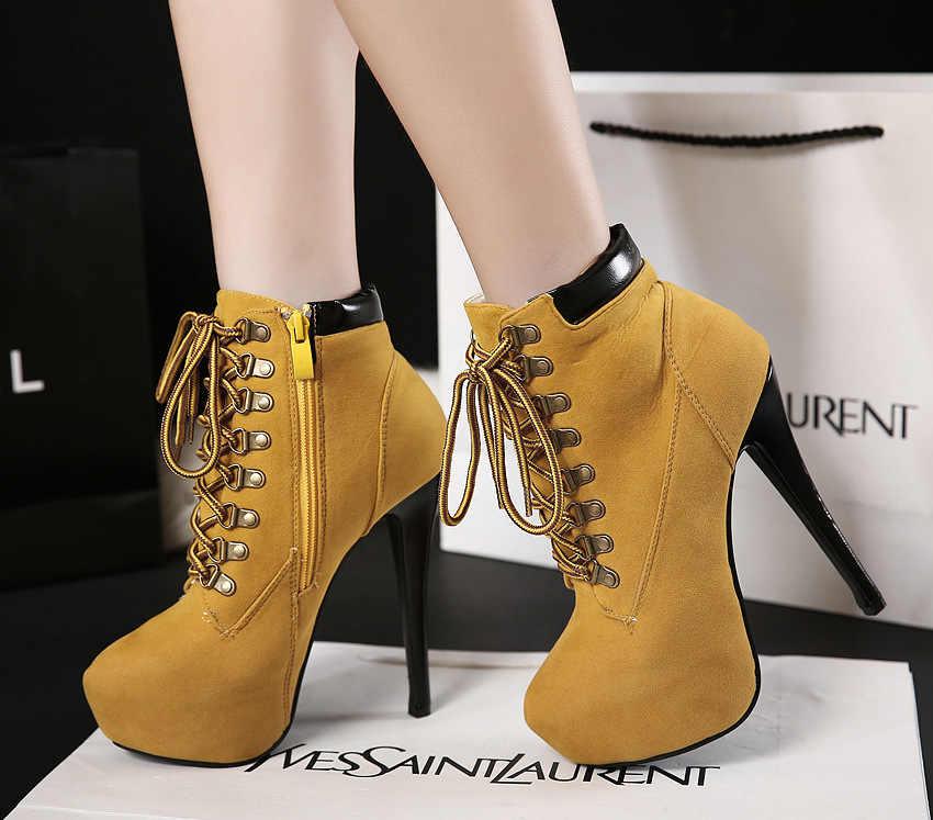 Avrupa ve amerikan patlama kadın yarım çizmeler süper yüksek topuklu çapraz askıları kadın botları Stiletto artan çizmeler