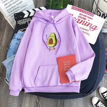KpopCasual Hula cerceau avocat à capuche femmes marque à manches longues chaud à capuche violet à capuche