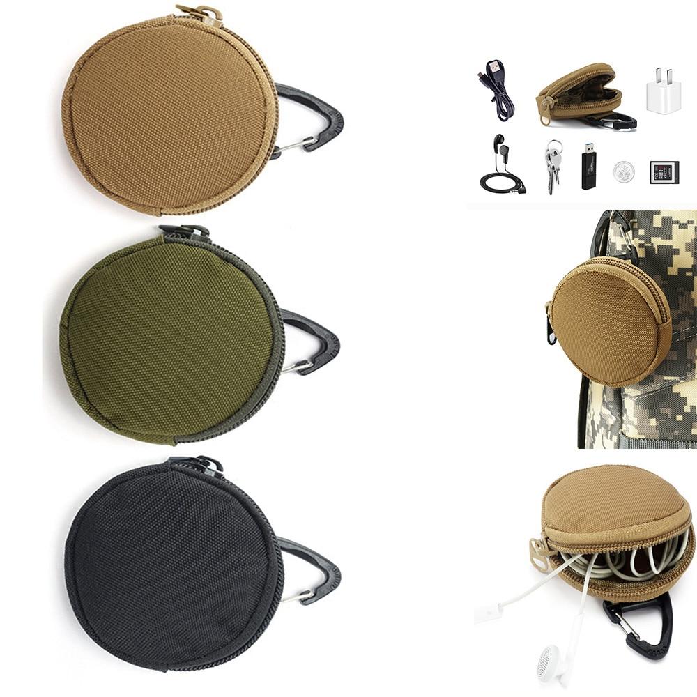 Details about  /Oxford Cloth Black Tactics Key Bag Change Coin Purse Outdoor EDC Utility Pouch