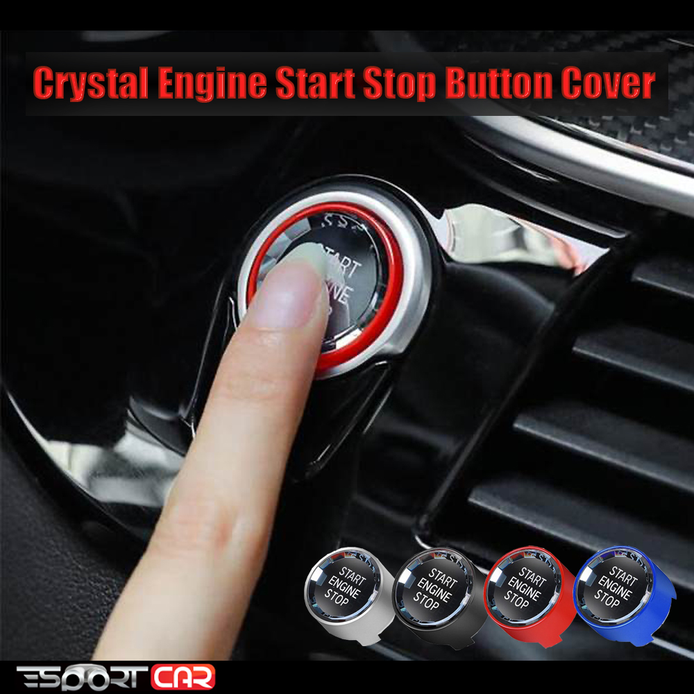 Crystal ENGINE START STOP switch button Sticker For bmw 1 2 3 4 5 6 7 Series F20 F21 F22 F30 F34 F10 F18 3 5 Series E90 E91 E60 image