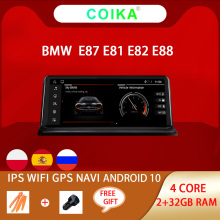 Coika Ips Auto Stereo Voor Bmw E87 E81 E82 E88 Android 10.0 Systeem 2 + 32G Ram Gps Navi screen Wifi Google Carplay Idrive Multimedia