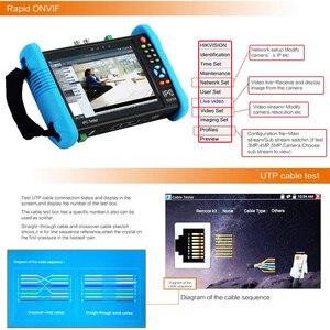 Image 4 - 7 inch 4K ip surveillance tester CCTV tester kamery H.265 monitor TDR Optical power HDMI Security camera tester