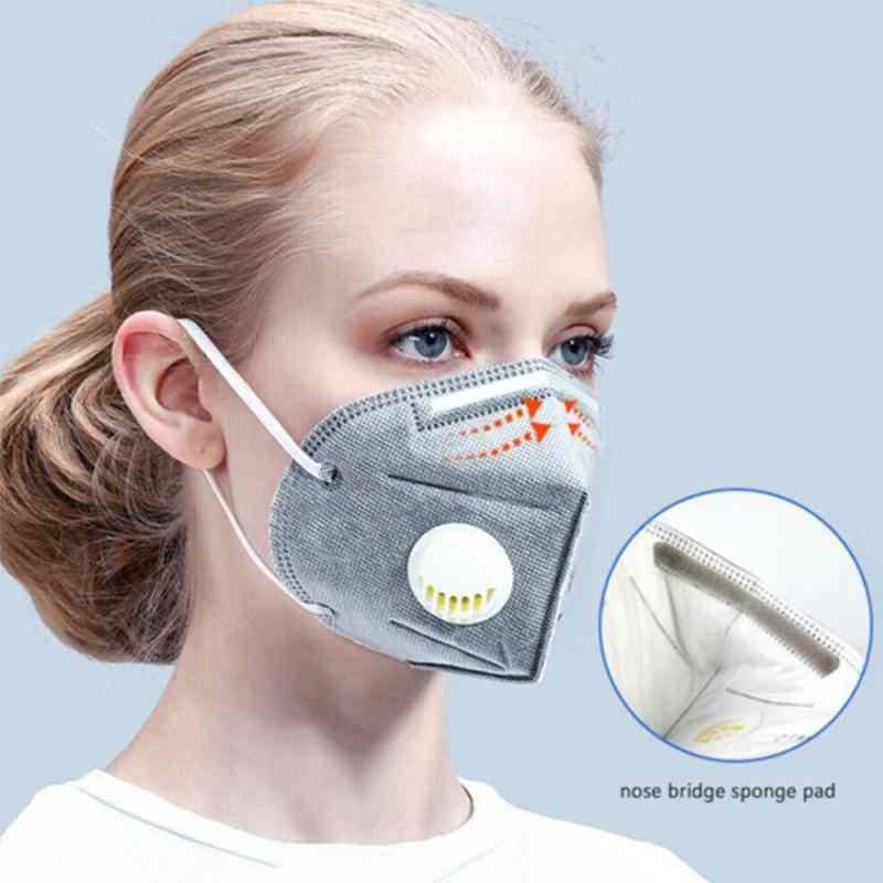 50pcs Disposable KN95 Masks Valved Face Mask N95 Protection Face Mask Anti-bacterial Anti-dust Protection Security Protection