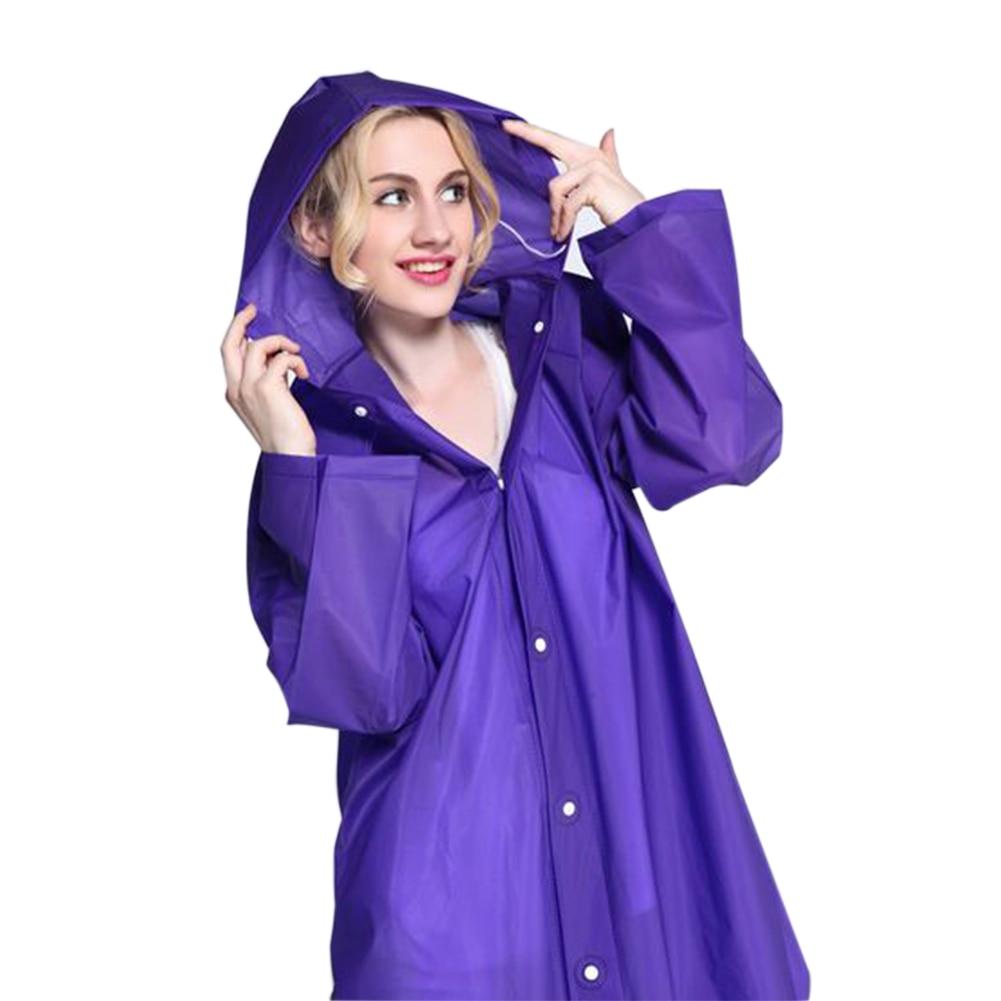 2019 New Women EVA Transparent Raincoat Poncho Portable Light Raincoat NOT Disposable Rain Coat For Adult
