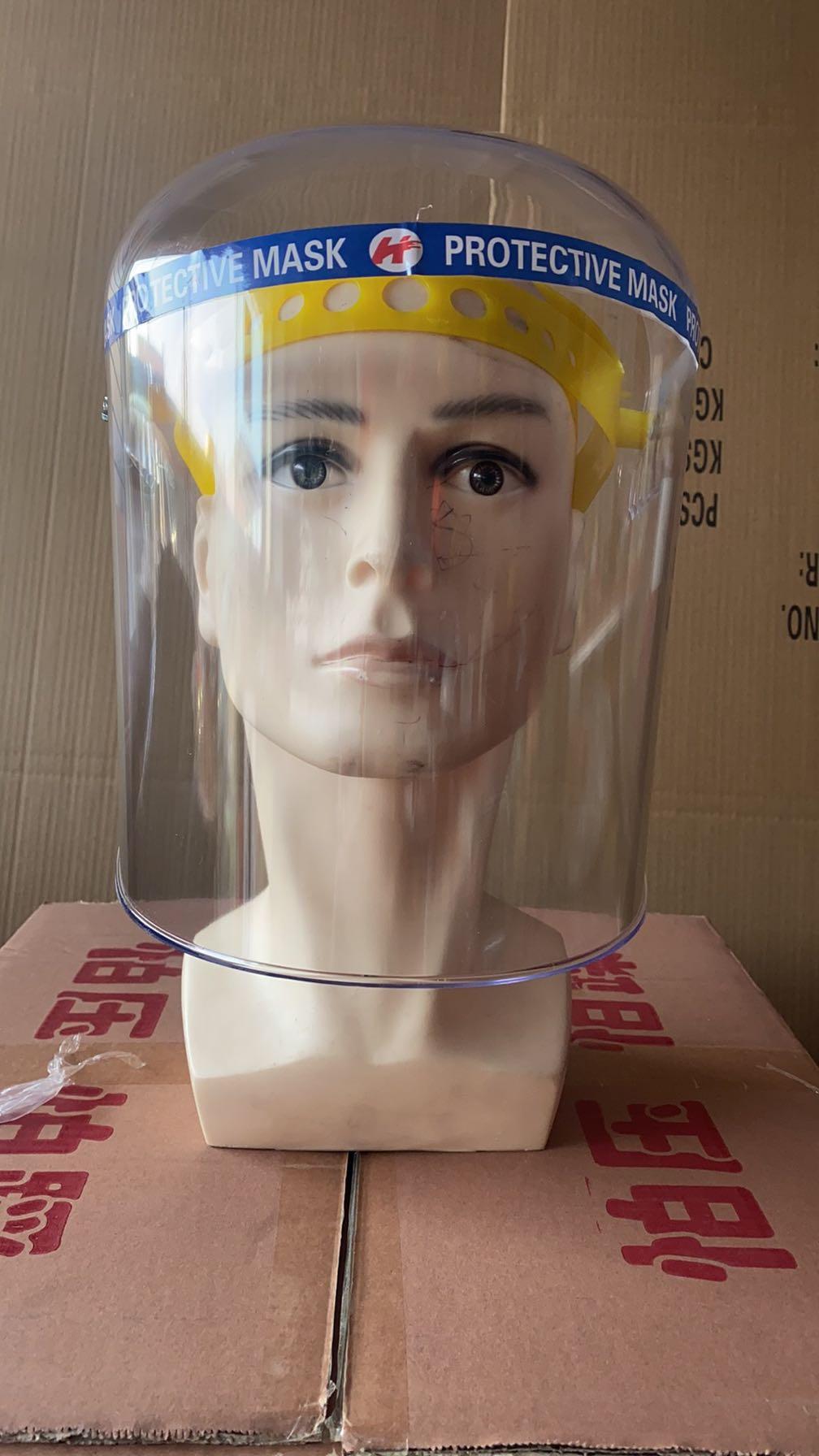 PVC Plexiglass Anti-Saliva Dustproof Faces Shields Screen Spare Visors Face Mask Respiratory Tract Protection