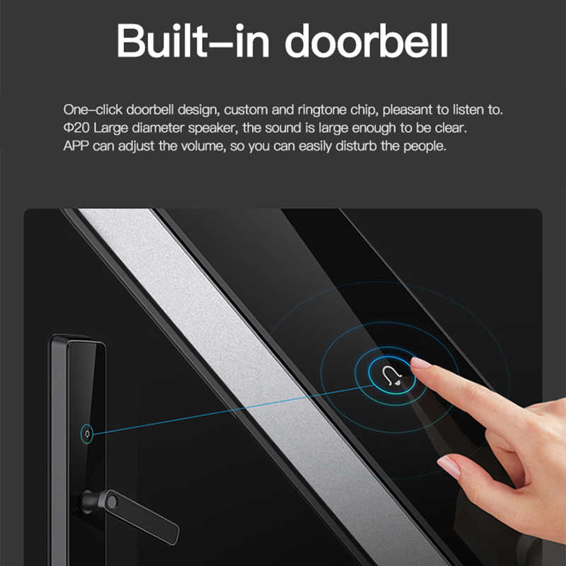 Obawa インテリジェント指紋ドアロックスマートカードデジタルコード電子ドアロックセキュリティ Xiaomi Mijia MiHome アプリ