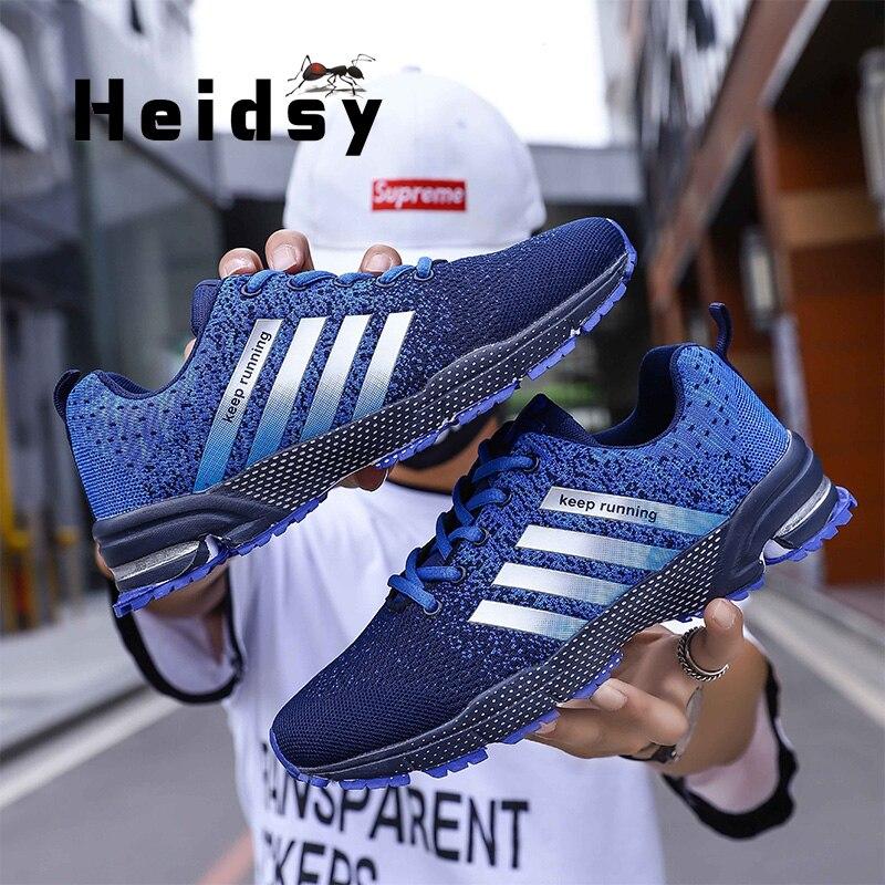 Heidsy Spring Autumn Fashion Men Sneakers Outdoor Breathable Casual Shoes Men Lightweight Flats Zapatos De Hombre