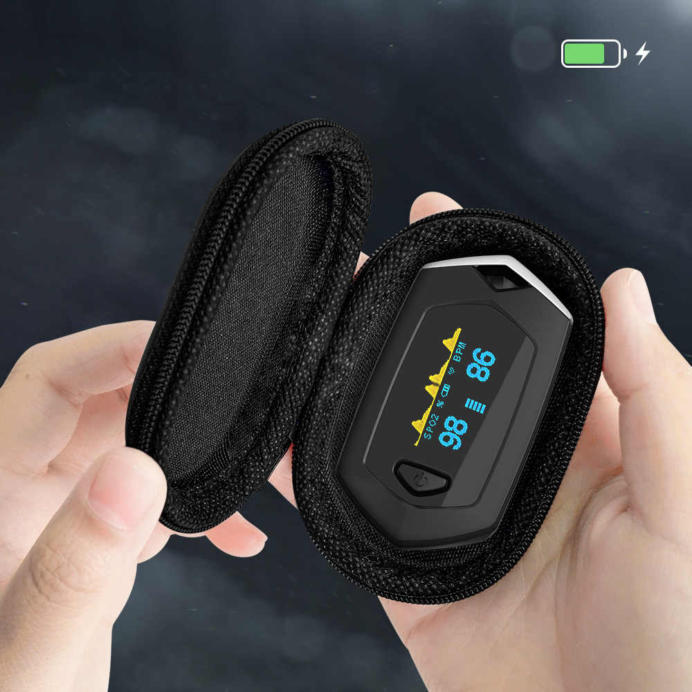 Yongrow Medical Rechargeable Digital Fingertip pulse Oximeter Blood Oxygen Saturation Meter Finger SPO2 PR Monitor