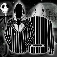 Movie Nightmare Before Christmas Jack Skellington 3D Cosplay Costumes Sweatshirt Hoodie Jackets Halloween Costume For Men CS046