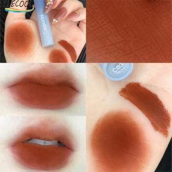 ELECOOL 6 colores de lápiz labial belleza Maquillaje Brillo de labios impermeable duradera mate Mental desnudo de labios reluciente brillo belleza rojo tinte de labios nuevo 1