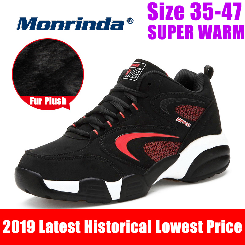 Monrinda Winter Sneakers Super Warm Shoes Women Waterproof Snow Boots Unisex Sport Outdoor Fashion Boot 35 47