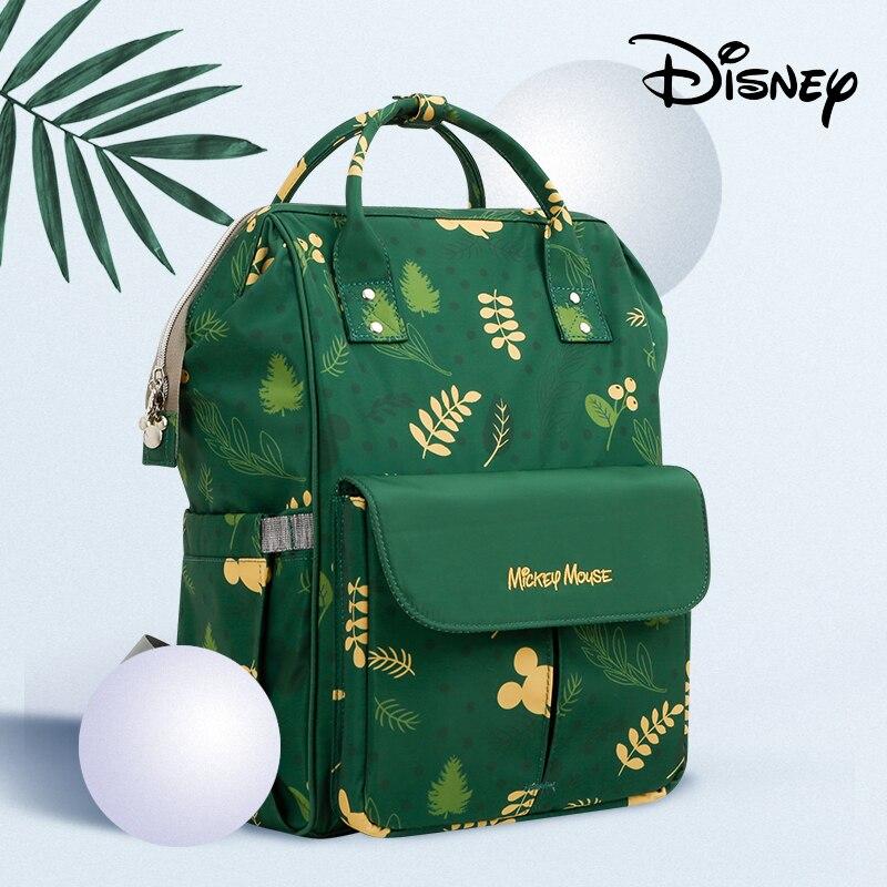 Disney Minnie Mickey bébé couches sacs pour maman multifonctionnel sac à dos maternité momie bébé poussette sac USB chauffage + crochets