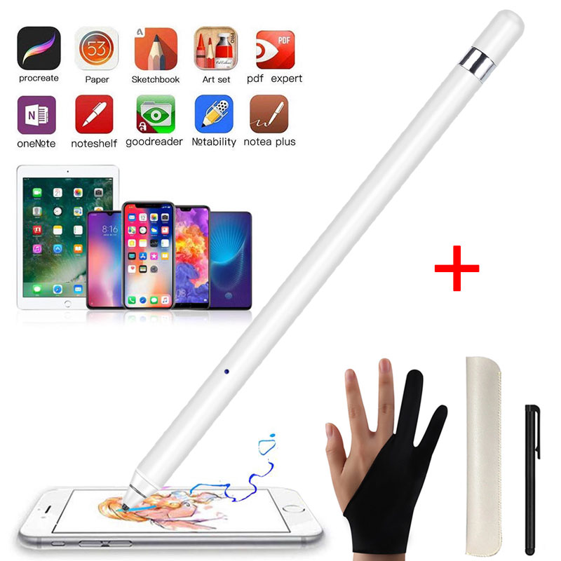 Stylus Touch Pen For Apple IPad Pro 11 12.9 9.7 IOS Android Tablet Capacitive Screen Pencil Stylus Drawing Pen For IPhone Huawei