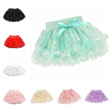 Girls pettiskirt  baby tutu skirts pink tulle puffy toddler/infant short cake skirt children princess