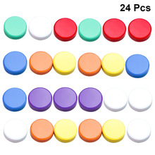 24pcs 3cm Round Colored Magnets Whiteboard Magnetic Pins Blackboard Stickers for Home Office School (Mixed Colors)