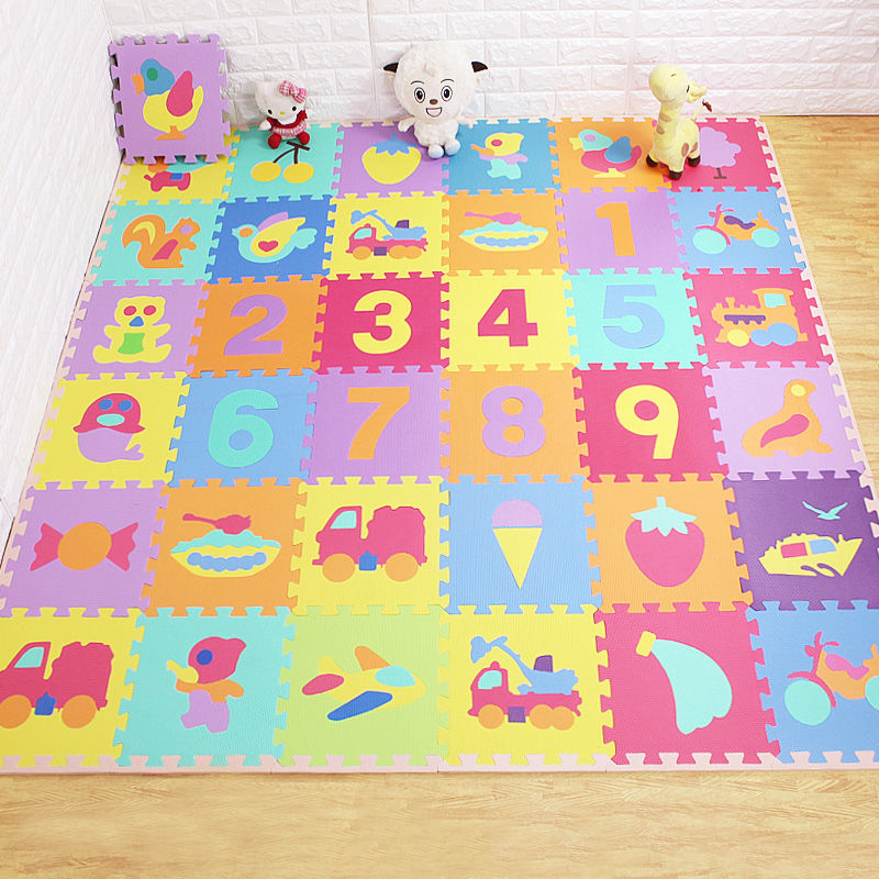 Children's Soft Developing Crawling Rugs Baby Play Puzzle Number/letter/cartoon Eva Foam Mat Pad Floor For Baby Games Literacy
