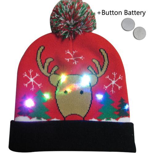 Г., 43 дизайна, светодиодный Рождественский головной убор, Шапка-бини, Рождественский Санта-светильник, вязаная шапка для детей и взрослых, для рождественской вечеринки - Цвет: 30