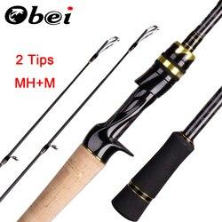Obei  Casting  Fishing Rod 2.1 2.4m M/MH Travel Street Bait 2tips Fast Rod Vara De Pesca 13-39g Fishing Rod